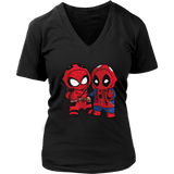 Deadpool And Spider-Man Costume Exchange Shirts