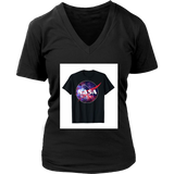 NASA Purple Pink Mix Galaxy Style Logo Graphic T-Shirt