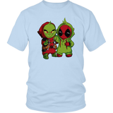 Deapool And The Grinch Costume Swap Mashup Shirts