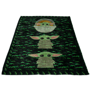 Star Wars The Mandalorian The Child Cartoon Poses Quilt