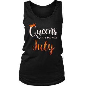 Women's Queens Are Born In July Girl Birthday Gift T-Shirt