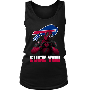 Buffalo Bills x Deadpool Fuck You And Love You NFL Shirts