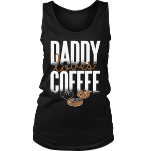 FUNNY DADDY LOVES COFFEE FATHERS DAY GIFT T-SHIRT FATHERS DAY SHIRT GIFT FOR CAFFEINE LOVER