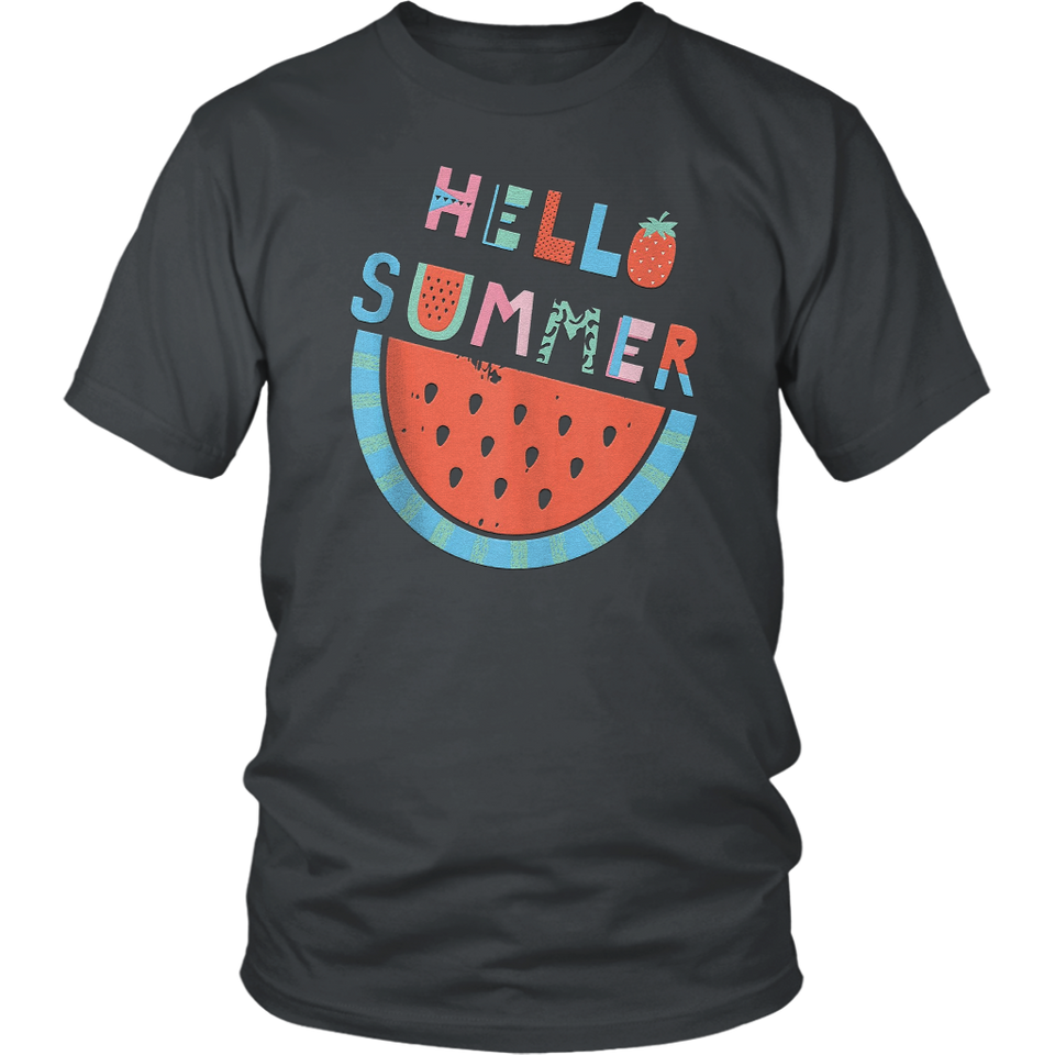 Shop HELLO SUMMER Cold Watermelon Seeds Fun  T Shirt