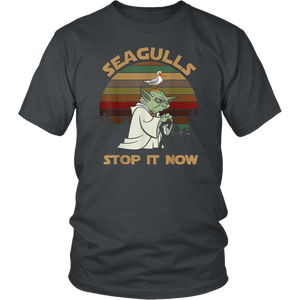 Baby Yoda Seagulls Stop It Now T-Shirt