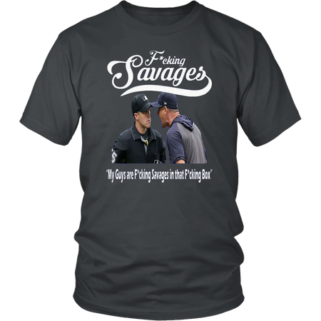 AARON BOONE FUCKING SAVAGES BASEBALL T-SHIRT Yankees' Aaron Boone Shirt