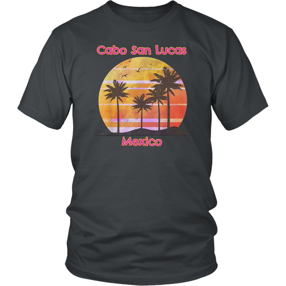 Find Cabo San Lucas Mexico Beach Ocean Vacation Sunset Palms T-Shirt