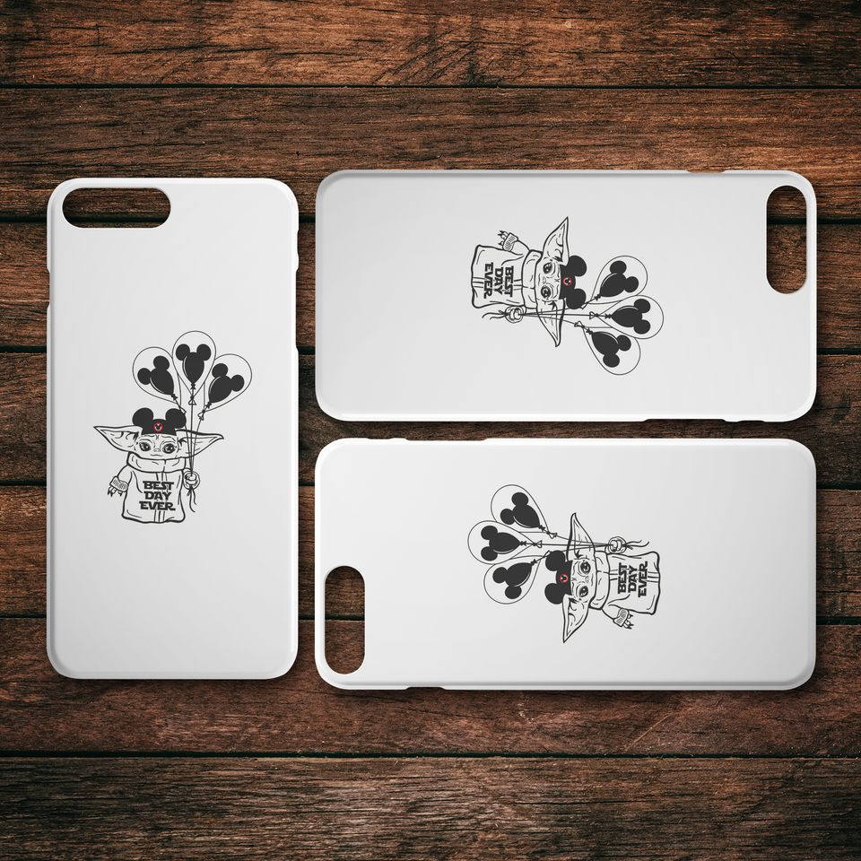 Baby Yoda Best Day Ever iPhone Case, Mandalorian, Galaxy Edge