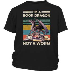 I'm A Book Dragon Not A Worm Vintage T-Shirt