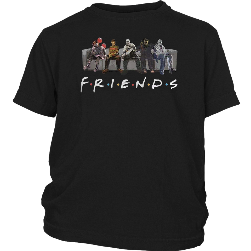 Yuliana Fri-Ends Film Style Gift Tshirt- Best Horror Characters Halloween Tee