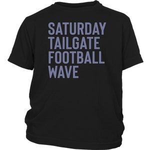 The Iowa Wave Saturday Tailgate Football Wave T-Shirts