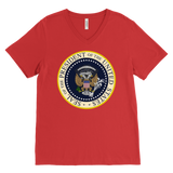 Charles Leazott Sweatshirt Fake Presidential Seal Canvas Mens V-Neck