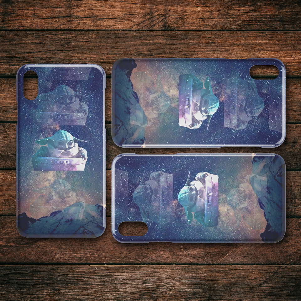 The Mandalorian The Child Floating Galaxy iPhone Case