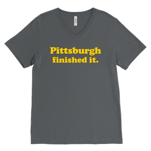Pittsburgh Finished It Mens V-Neck