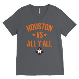 Houston Astros vs all y'all V-Neck shirt
