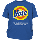 VOTE REMOVES STUBBORN ORANGE STAINS SHIRT