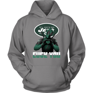 New York Jets x Deadpool Fuck You And Love You NFL Shirts