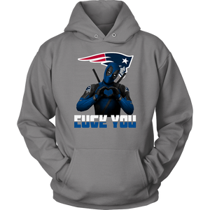 New England Patriots x Deadpool Fuck You And Love You NFL Shirts