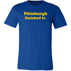 Pittsburgh Finished It Canvas Mens Shirt