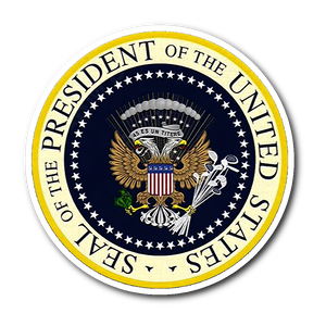 Charles Leazott Sticker Fake Presidential Seal Sticker