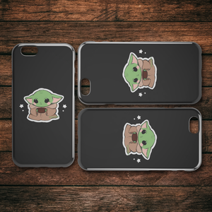 Kawaii Yoda Vinyl iPhone Case - Cute - Decal cut