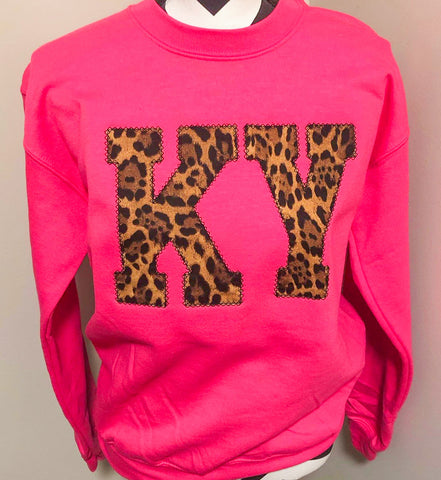 Hot Pink State Sweatshirt (ANY STATE AVAILABLE)(PRE-ORDER) - This & That Boutique Shop
