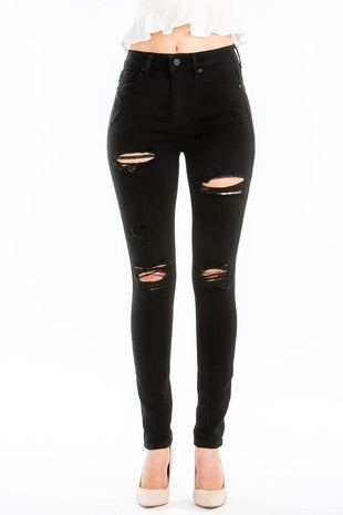 Kancan Black Distressed Jeans - This & That Boutique Shop