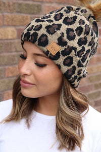 All Leopard Beanie - This & That Boutique Shop