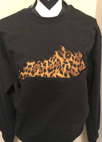 Black State Sweatshirt (ANY STATE AVAILABLE) (PRE-ORDER) - This & That Boutique Shop