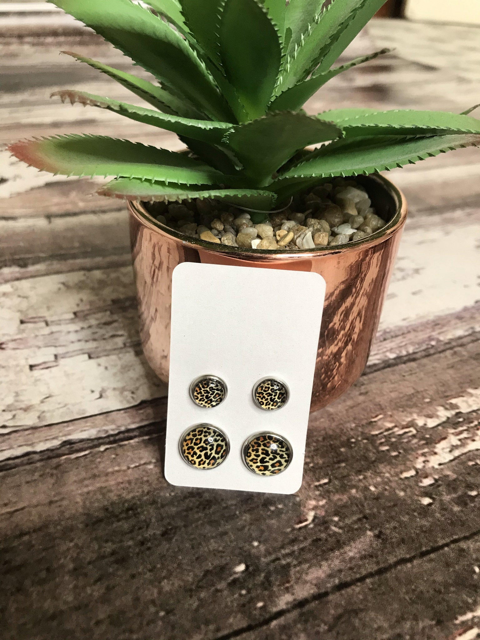 Leopard Stud Earrings Set - This & That Boutique Shop