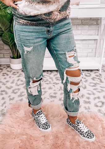 Ladies First Distressed Jeans - This & That Boutique Shop