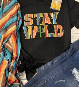 Stay Wild Tee - This & That Boutique Shop