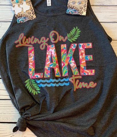 Living On Lake Time Tank - This & That Boutique Shop