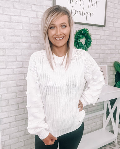 Bubble Sleeve Sweater - This & That Boutique Shop