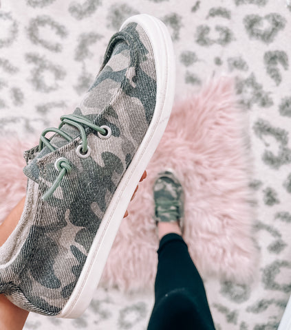 Camo Slip On Flats - This & That Boutique Shop