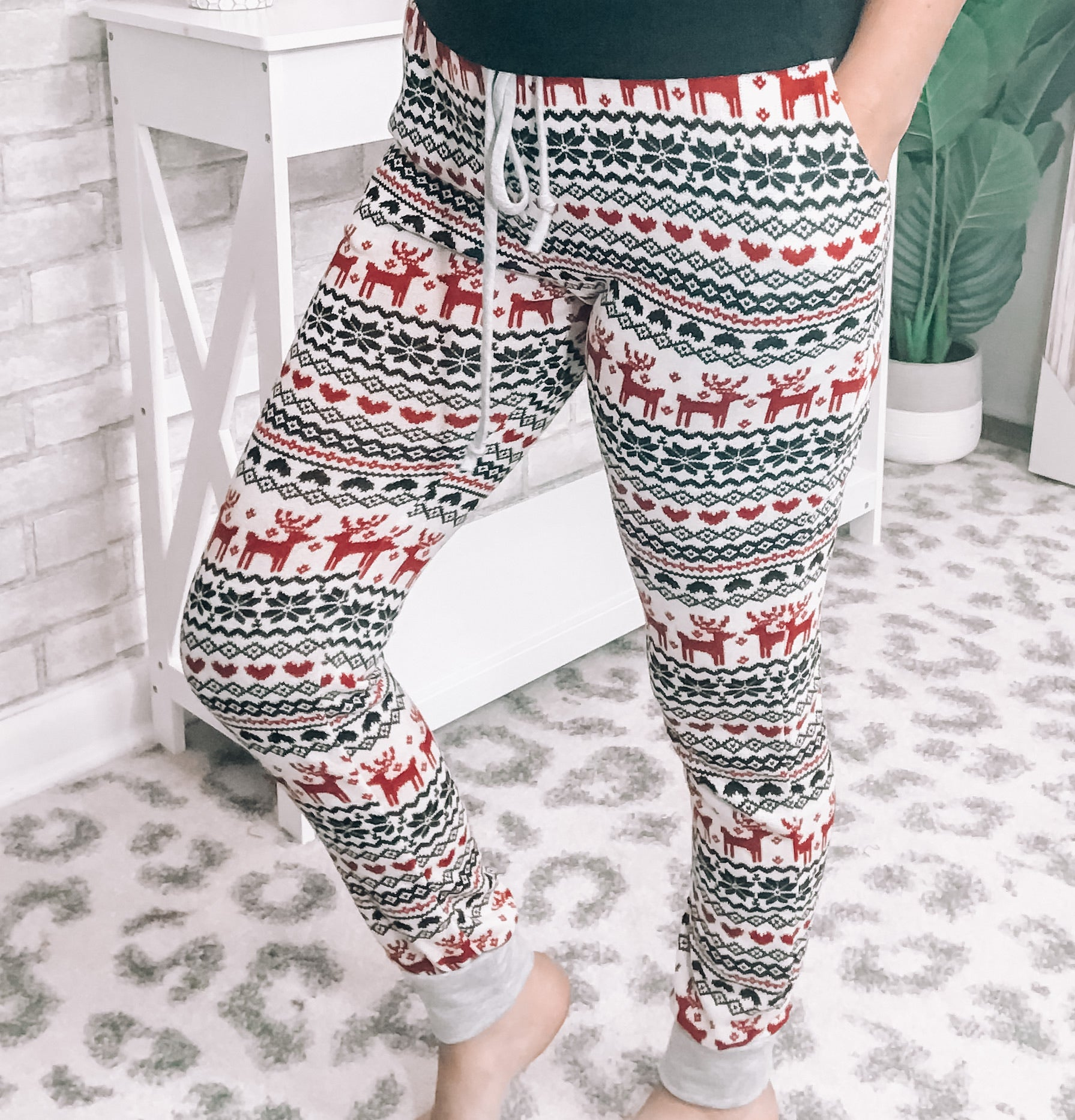 Reindeer Lounge Pants - This & That Boutique Shop