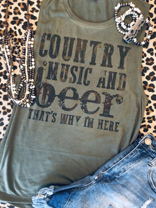 Country music & Beer (PRE-ORDER) - This & That Boutique Shop