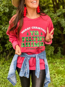 Merry Christmas Ya Filthy Animal Sweatshirt - This & That Boutique Shop
