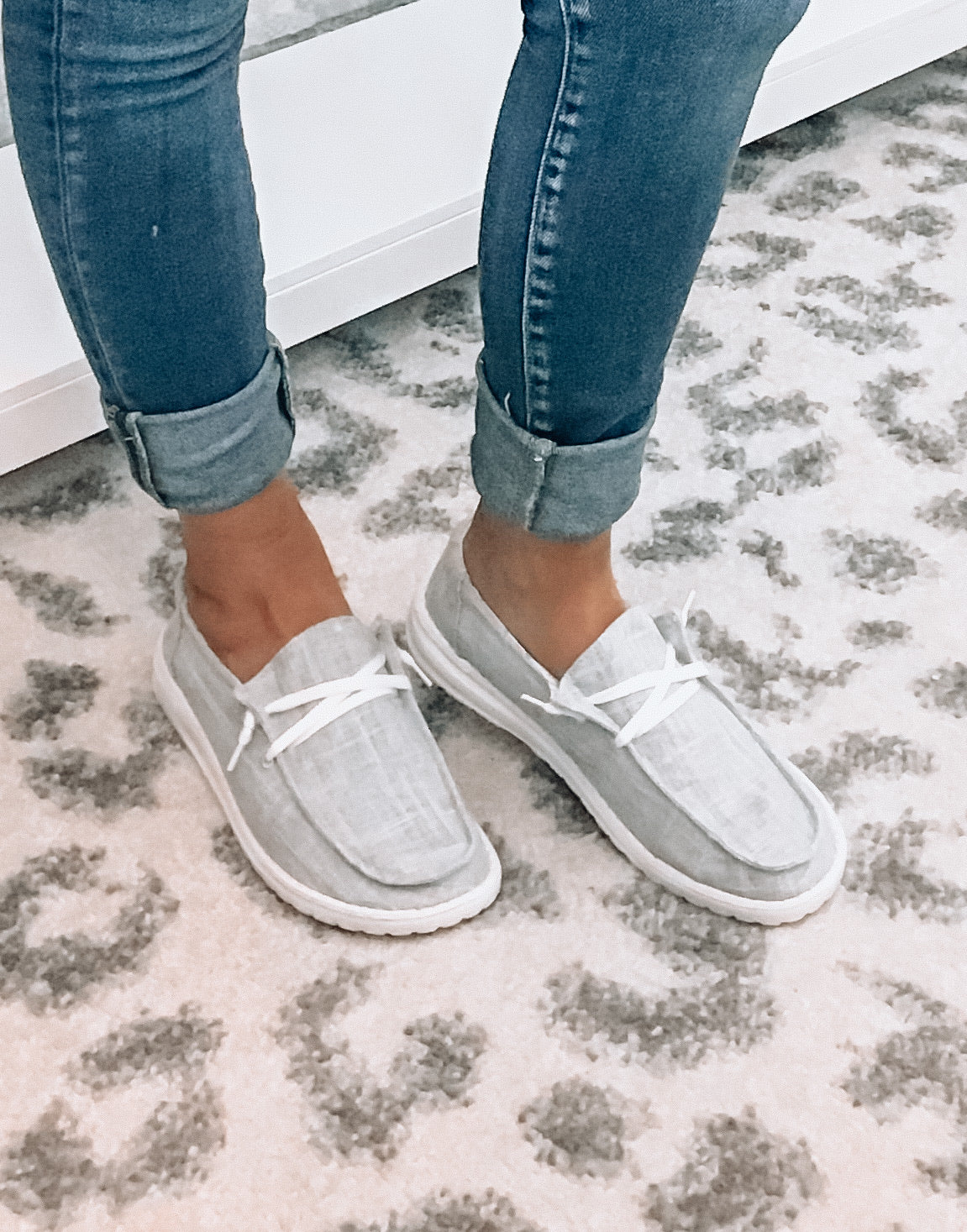 Gray Slip On Flats - This & That Boutique Shop