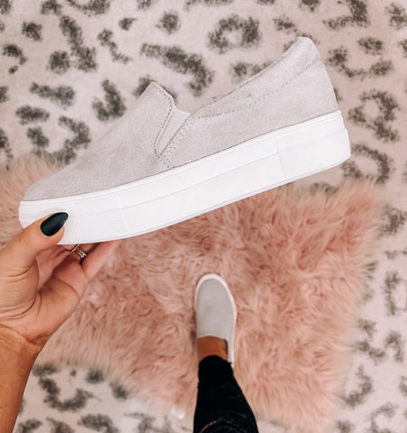 Grey Suede Flats - This & That Boutique Shop
