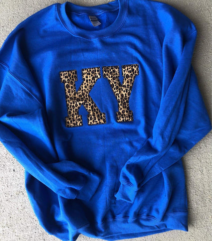 Leopard State Sweatshirt (ANY STATE AVAILABLE) (PRE-ORDER) - This & That Boutique Shop