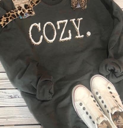 Charcoal Cozy Sweater (PRE-ORDER) - This & That Boutique Shop