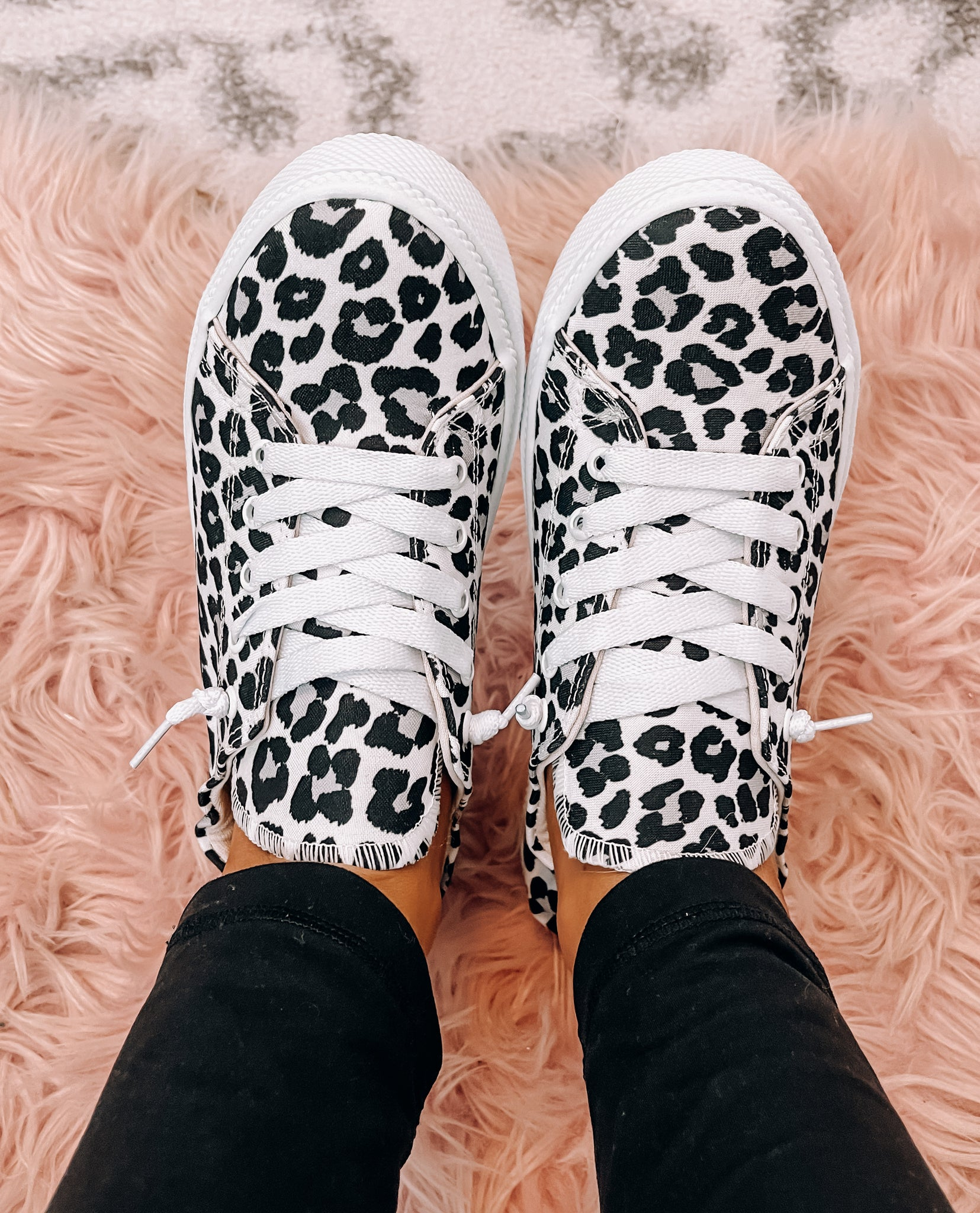 White & Leopard Sneakers - This & That Boutique Shop
