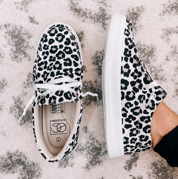 White Leopard Sneakers - This & That Boutique Shop