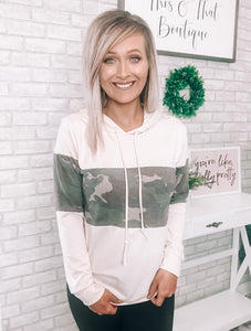 Oatmeal & Camo Pullover - This & That Boutique Shop