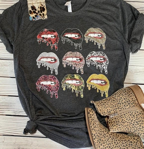 Colorful Lips Tee - This & That Boutique Shop