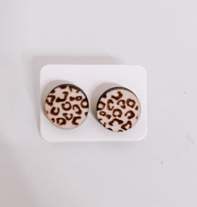 Leopard Circle Stud - This & That Boutique Shop