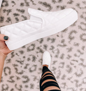 White Slip on Sneakers - This & That Boutique Shop