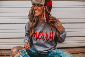Merry Sweatshirt - This & That Boutique Shop