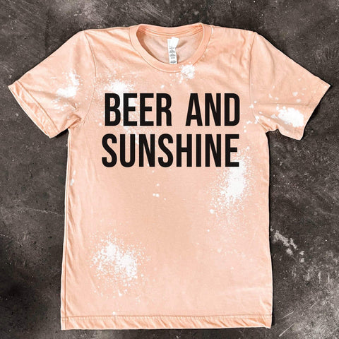 Peach Beer & Sunshine Tee - This & That Boutique Shop